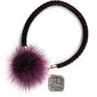Гривна лилава естествен кожа и помпон Dannyra Jewels AW12B11